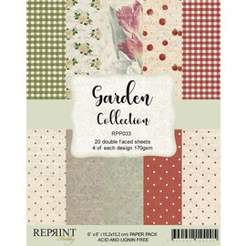 Reprint Reprint Garden Collection 6x6 Inch Paper Pack