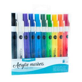 Studio Light Studio Light • Acrylic markers heldere kleuren no .01