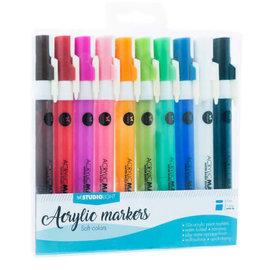 Studio Light Studio Light • Acrylic markers zachte kleuren no. 2