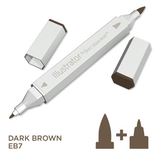 Spectrum Noir Illustrator - Dark Brown  EB7