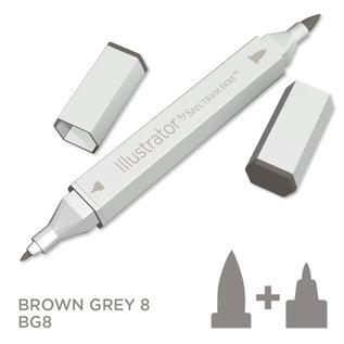 Spectrum Noir Illustrator - Brown Grey  8  BG8