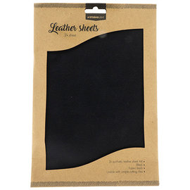 Studio Light Faux Leather Sheets 2x A4 Black