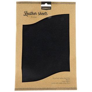 Studio Light Faux Leather Sheets 2x A4 Black