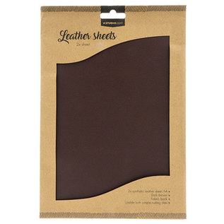 Studio Light Faux Leather Sheets 2x A4 Brown