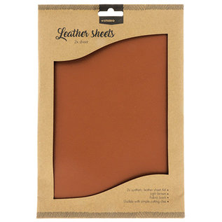 Studio Light Faux Leather Sheets 2x A4 Light Brown