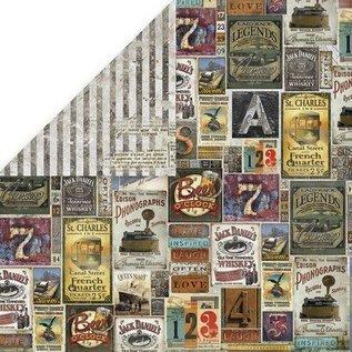 Craft&You Craft&You Vintage Man  05 - Scrapbooking single paper 12x12