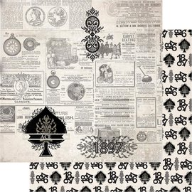 """Couture Creations n°06 Gentlemans Emporium Double-Sided Paper 12""""X12"""""""