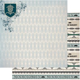 """Couture Creations n°07 Gentlemans Emporium Double-Sided Paper 12""""X12"""""""