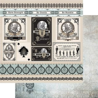 """Couture Creations n°12 Gentlemans Emporium Double-Sided Paper 12""""X12"""""""