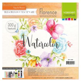 Mintay Florence • Aquarelpapier ivoor texture 300g 30,5x30,5cm