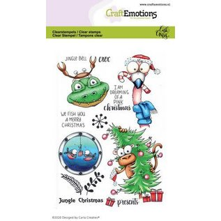 CraftEmotions CraftEmotions clearstamps A6 - Jungle Christmas Carla Creaties