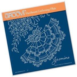 Groovi Groovi Jasmine A5 Square Plate