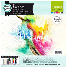 Florence • Aquarelpapier smooth White 30,5x30,5cm  300g per stuk