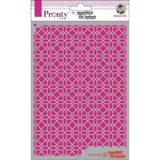 Pronty Pronty Mask Pattern background 4 A5  by Jolanda