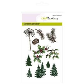 CraftEmotions CraftEmotions clearstamps A6 - kerst bomen, takken Christmas Nature
