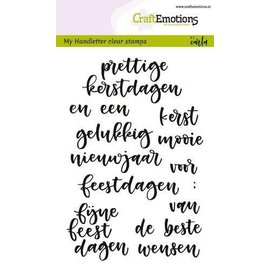 CraftEmotions CraftEmotions clearstamps A6 - handletter - woorden kerst