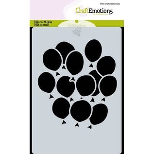 CraftEmotions CraftEmotions Mask stencil ballonnen A6 Carla Creaties