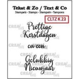 CreaLies Crealies Clearstamp Tekst&Zo Kerst 23 (NL) 28 mm