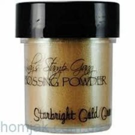 Wow Lindy's Stamp Gang Star Bright Gold Green Embossing Powder