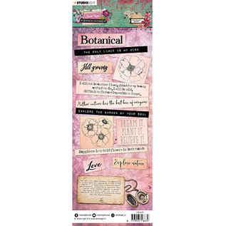 Studio Light Chipboard Elements, Just Lou Botanical Collection nr.03