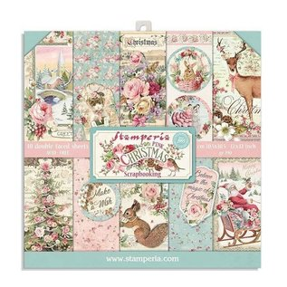 stamperia Stamperia Pink Christmas 8x8 Inch Paper Pack