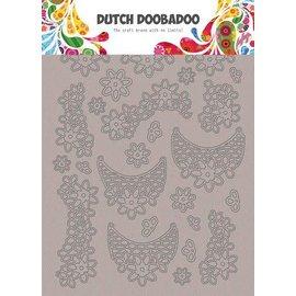 Dutch Doobadoo Dutch Doobadoo Greyboard Art Kant Bloemen A5