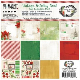 """49 th And Market 49 And Market Collection Pack 6""""X6"""" Vintage Artistry Noel"""