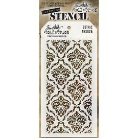 """Tim Holtz Tim Holtz Layered Stencil 4.125""""X8.5""""   Gothic"""