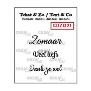 CreaLies Tekst & Zo NL tekst stempel no.21