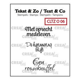 CreaLies Tekst & Zo NL tekst stempel no.6 overlijden