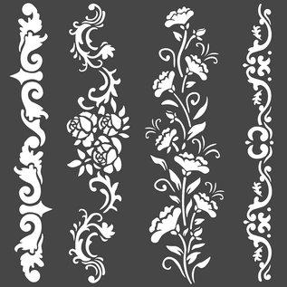 stamperia Stamperia Thick Stencil 18x18cm Borders