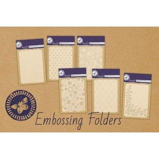 Aurelie Grunge Dots Background Embossing Folder