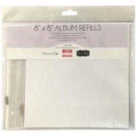 "Dovecraft  Snap Load Album Refills 8""X8"" 5/Pkg"