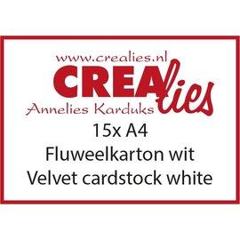 CreaLies Crealies fluweelkarton - wit - A4 - 15st