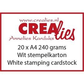 CreaLies Stempelkarton, wit 240 grams (20x A4)