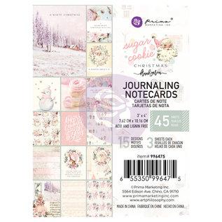 PRIMA MARKETING Sugar Cookie Christmas 3x4 Inch Journaling Cards  45stuks