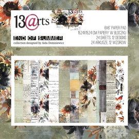 13 Arts 13 Arts End of summer  24 sheets 6 x 6   12 designs