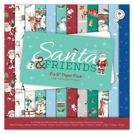 Papermania Santa and Friends 6x6 Inch Paper Pack