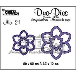 CreaLies Set of 2 stansen no. 21, Bloemen 12
