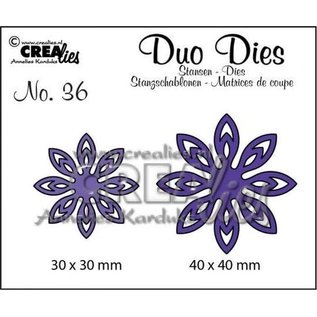CreaLies Set of 2 stansen no. 36, bloemen 1