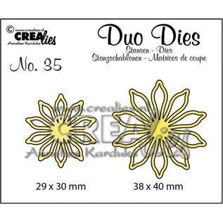 CreaLies Set of 2  stansen n°35 bloemen 17