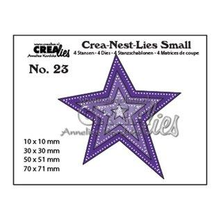 CreaLies Small stansen no. 23, Asymmetrische ster met dubbele stippenlijn