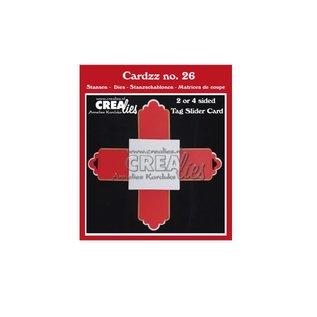CreaLies Cardzz stansen no. 26, 2- of 4-zijdige label schuifkaart