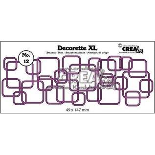 CreaLies Decorette XL stans no. 12, In elkaar grijpende vierkanten