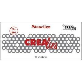 CreaLies Stencilzz no. 201, Wonky circles