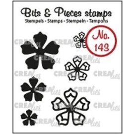 CreaLies CrealiesBits & Pieces stempel no.143 mini bloemen 21