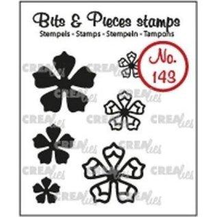 CreaLies CrealiesBits & Pieces stempel no.143 mini bloemen 21