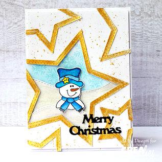 CreaLies Bits & Pieces stempel no. 220, Sneeuwpop
