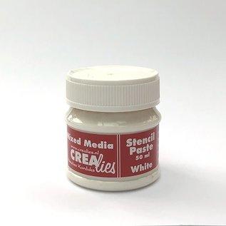 CreaLies Crealies  Stencil pasta wit, 50 ml