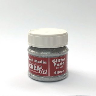 CreaLies Crealies Glitter pasta zilver, 50 ml